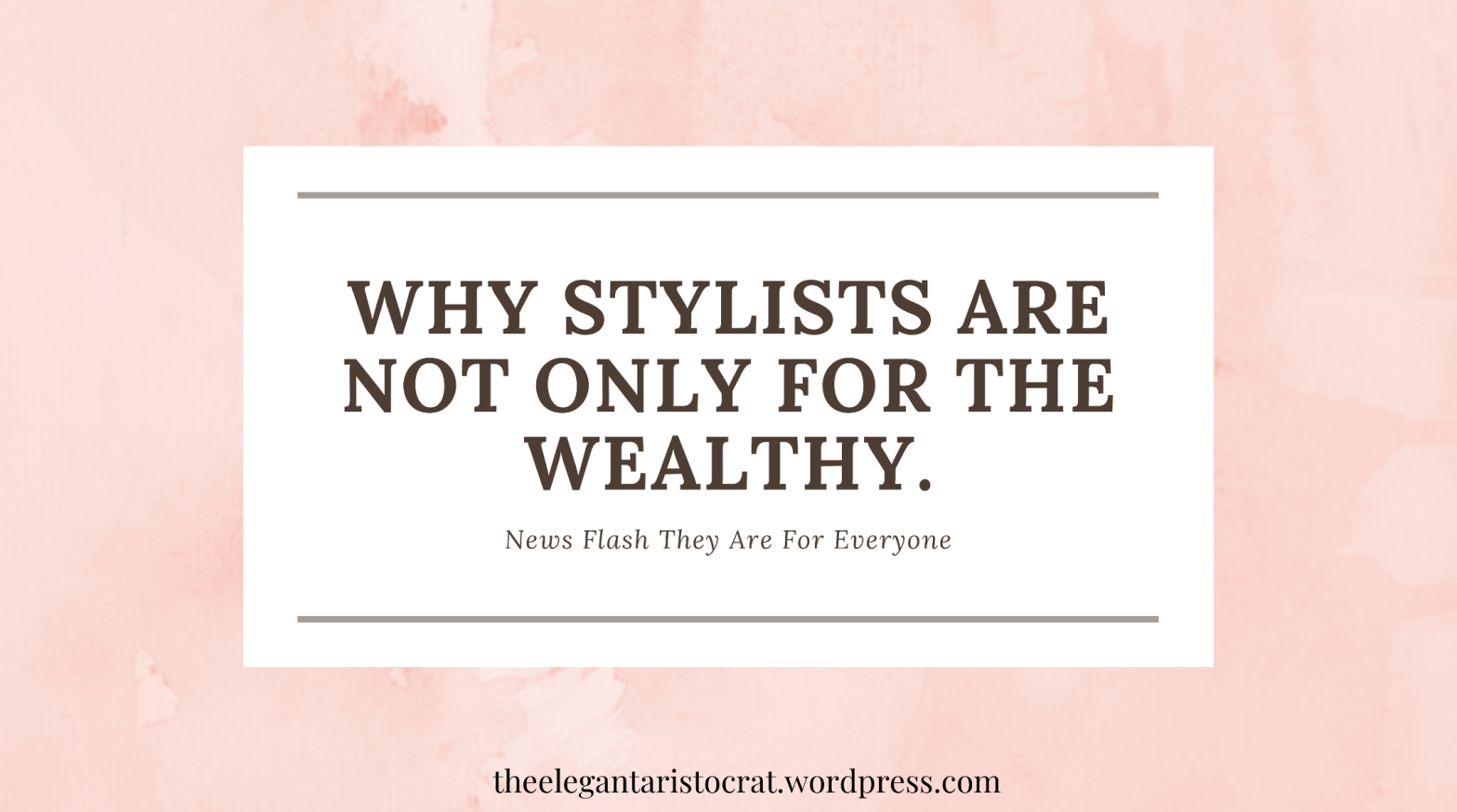 Here's the top tips on why you need a personal stylists